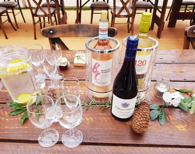 Table wine setup & glassware