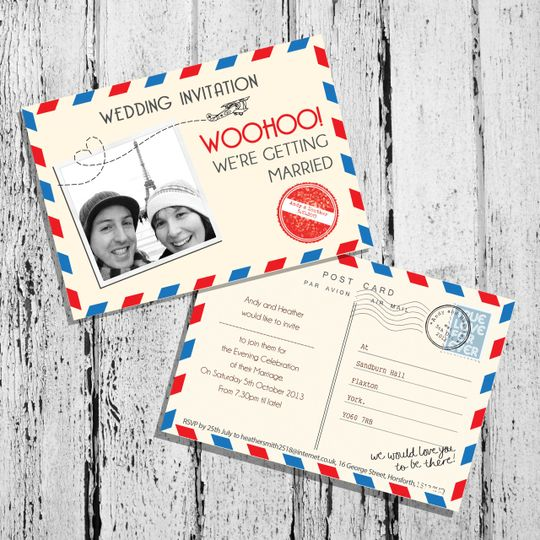 Airmail theme stationery