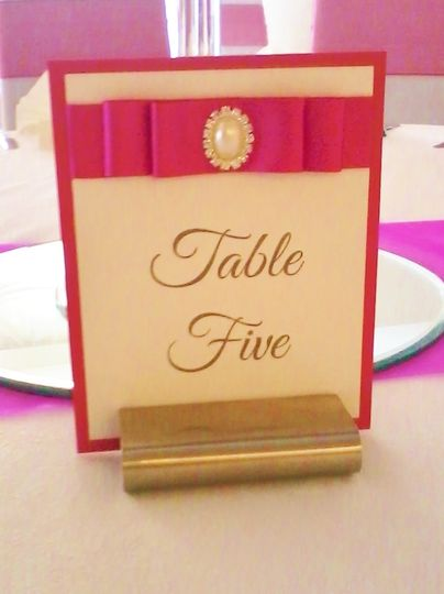 Angela Marie table number