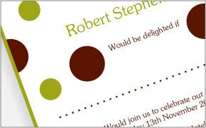 Green and brown invites