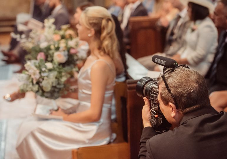 Wedding filmmaker church