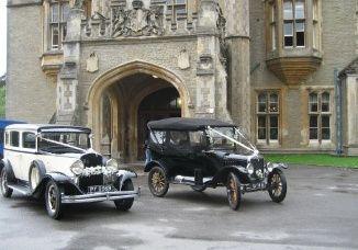 Chrysler and Ford wedding car