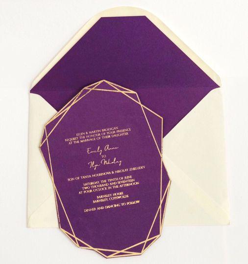 Geometric Gold & Purple