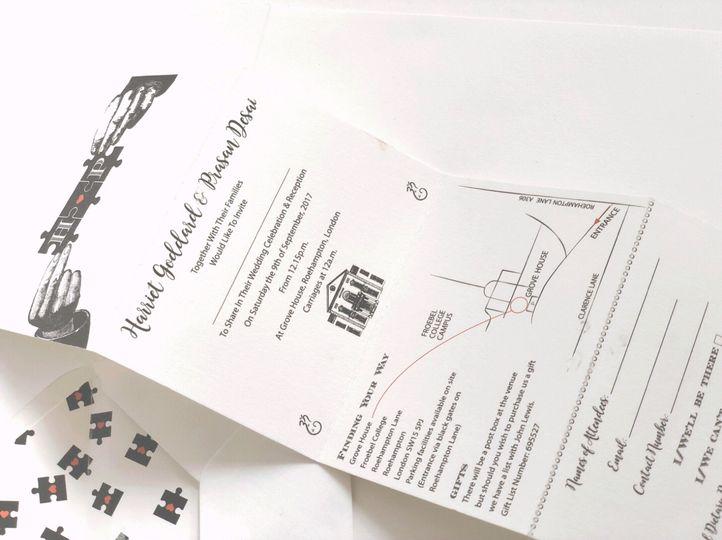 Concertina-style invite