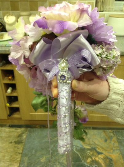 Decorated handles, bouquets