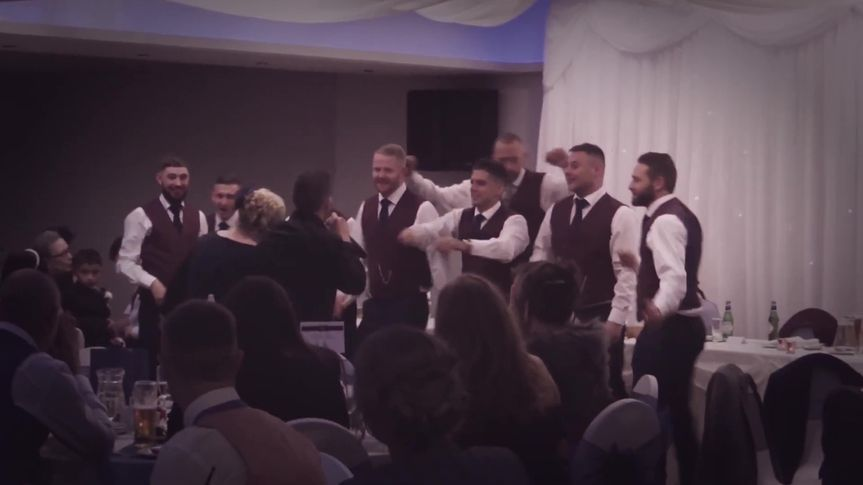 Dancing with the ushers