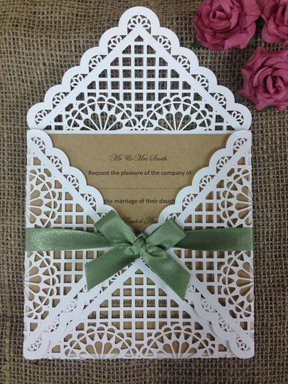 Seville laser cut invitation