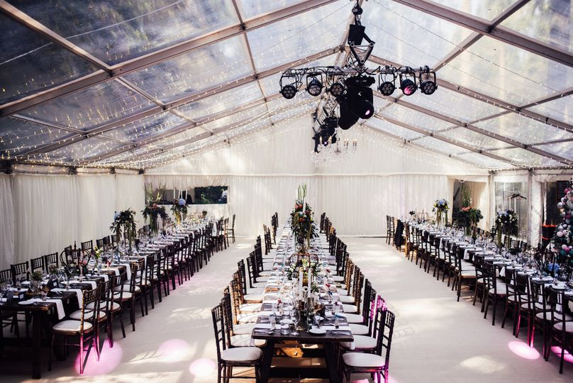 Contemporary and chic clear marquee