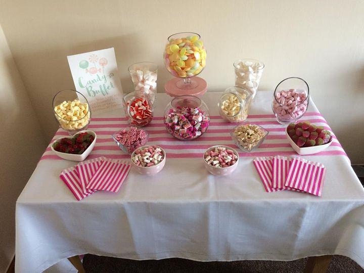 Pink theme candy sign