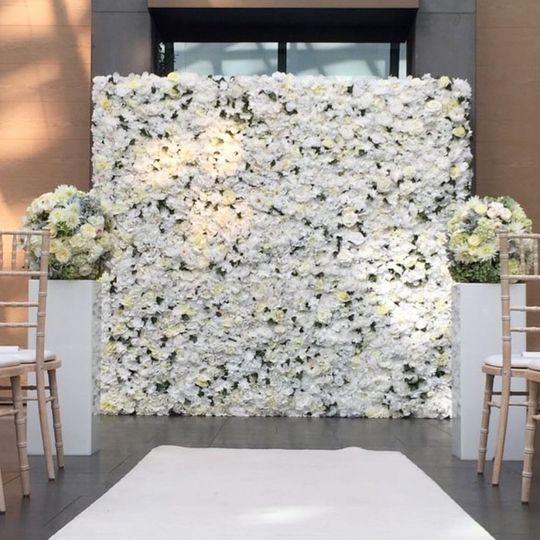 Ivory flowerwall