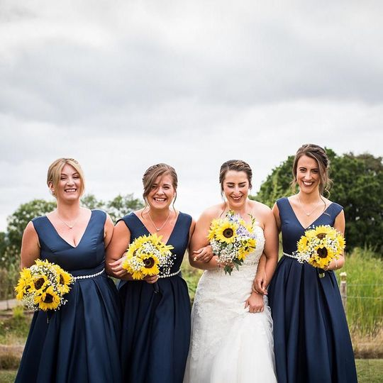 Charlotte and her bridesmaids