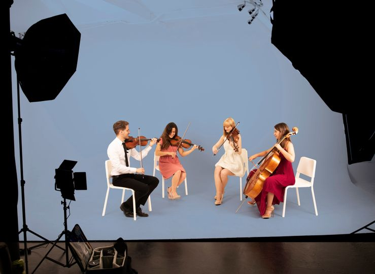 Photoshoot of the musicians