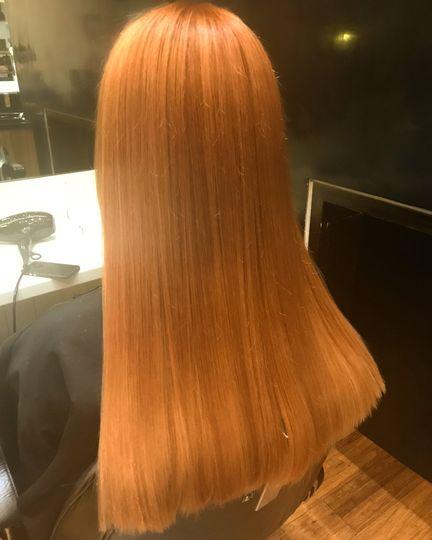 Hair cut and colour