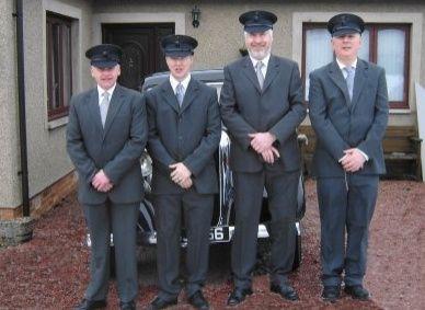 Smartly uniformed chauffeur