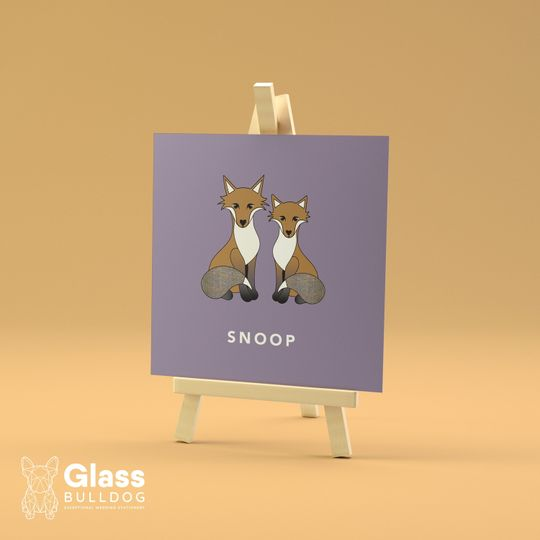 Stationery Glass Bulldog Wedding Stationery 7