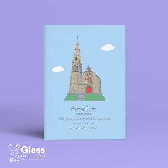 Stationery Glass Bulldog Wedding Stationery 9