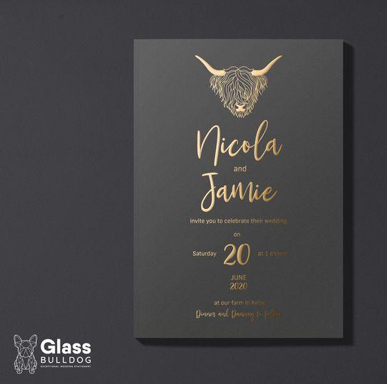 Stationery Glass Bulldog Wedding Stationery 15