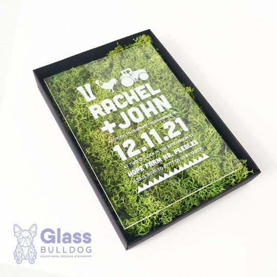 Stationery Glass Bulldog Wedding Stationery 20