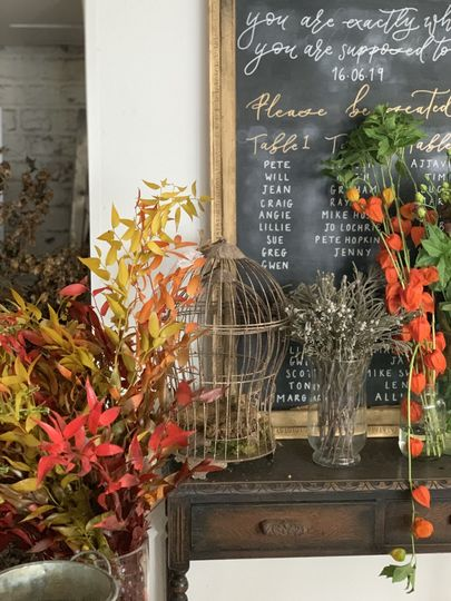 Prop hire/ styling table plans