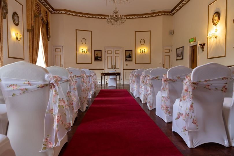 Ballroom red carpet