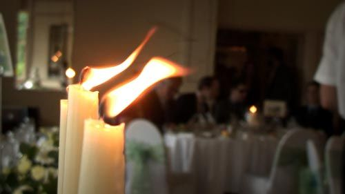 Candles at the wedding