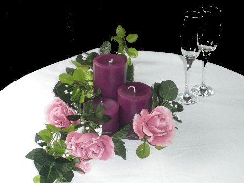 Plum Purple coloured candles