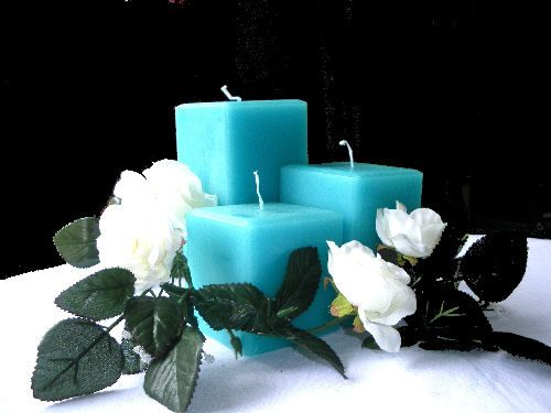 Turquoise candles
