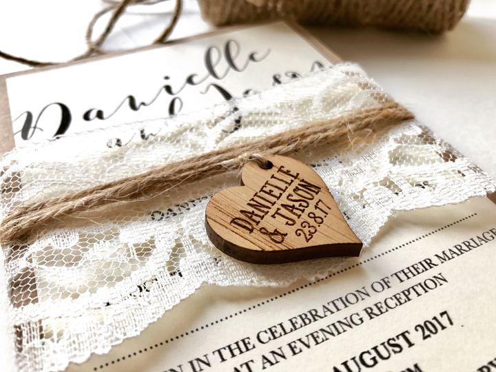 Wooden heart design