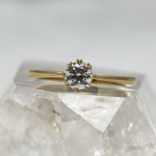 Recycled diamond ring