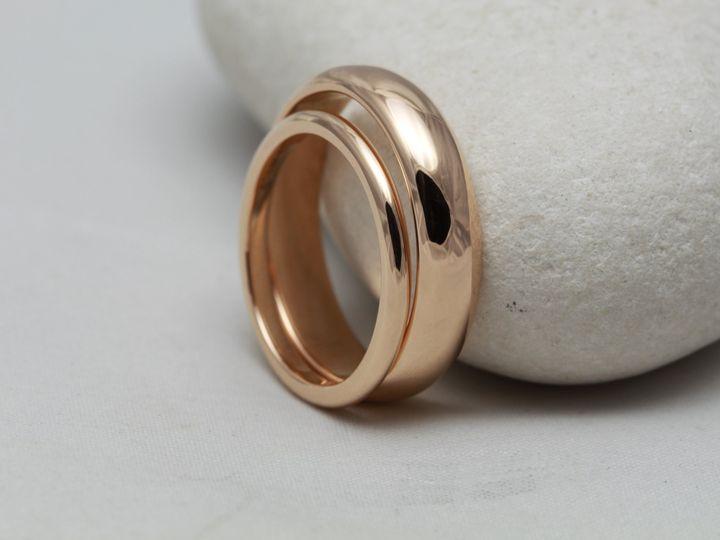 Matching 18ct rose gold bands