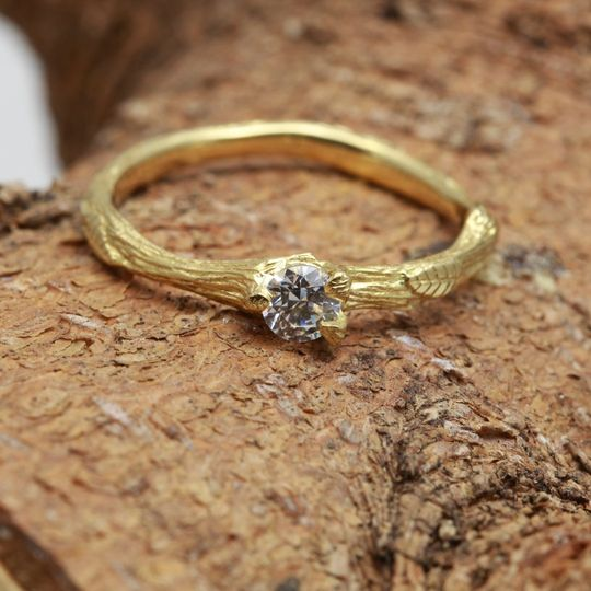 Twiggy engagement ring