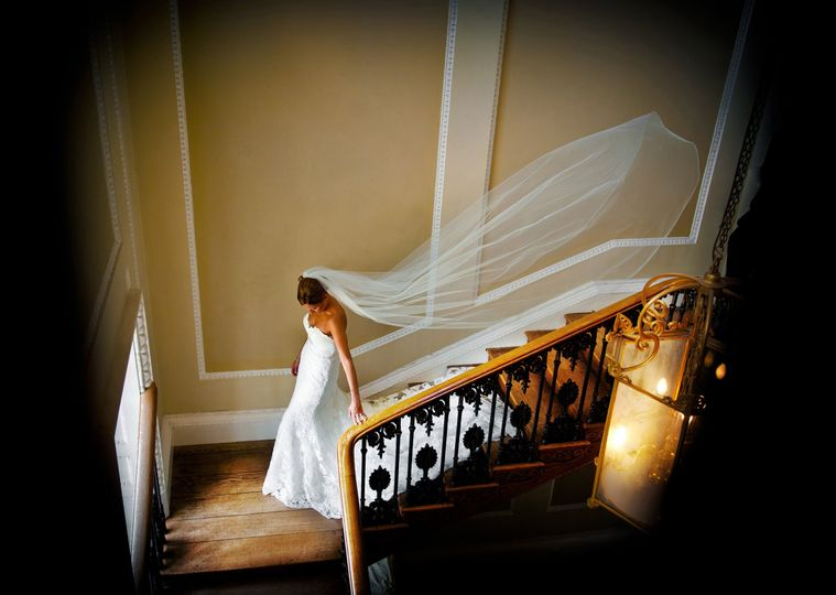 The Bride on our Henry VIII Staircase