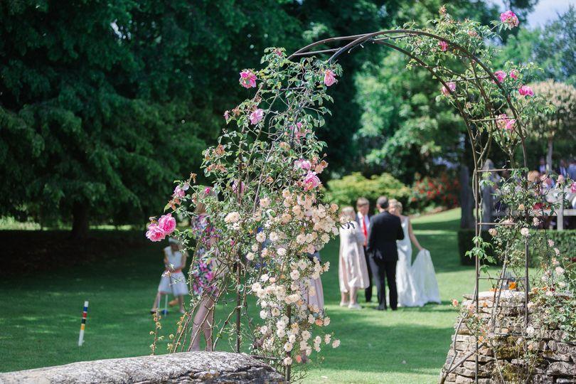 Intimate garden ceremony