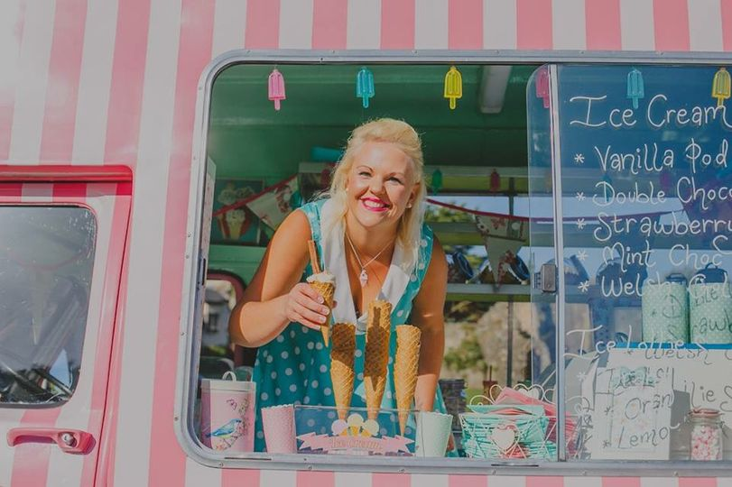 Poppy serving up icy treats