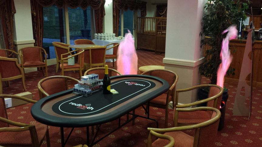Casino poker and flame lights