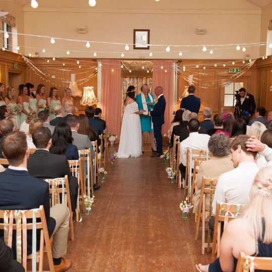 Wonderful village hall wedding
