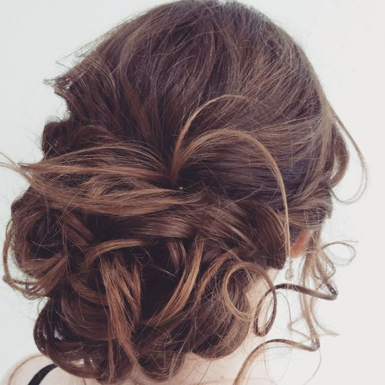 A beautiful updo
