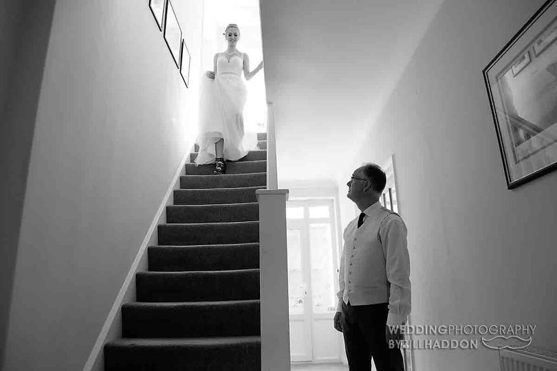Coming down the stairs - Photography By Bill Haddon