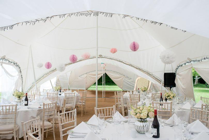 Marquee wedding. Hannah Venn