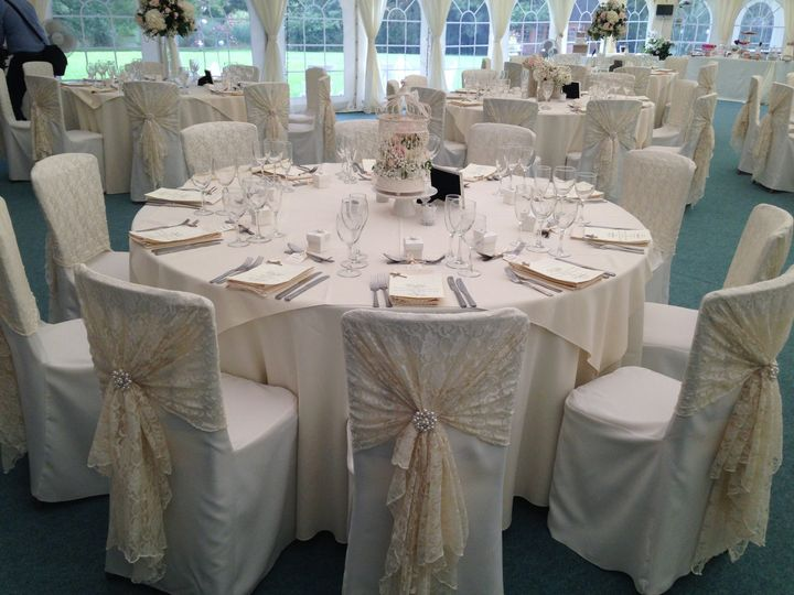 Lace chair cover hoods