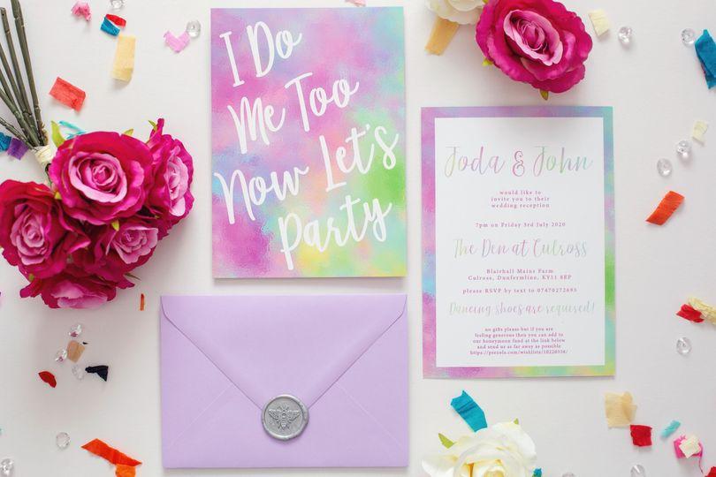 Bright bold wedding suite