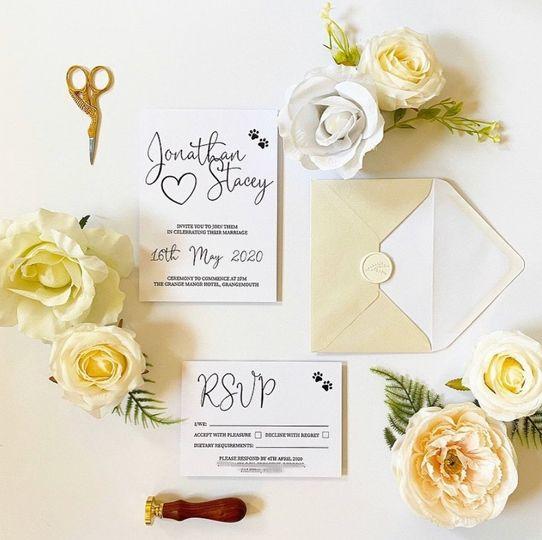 Contemporary invitation suite