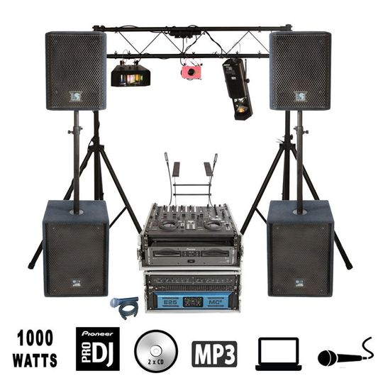 1000w Laptop & DJ Party Package 2
