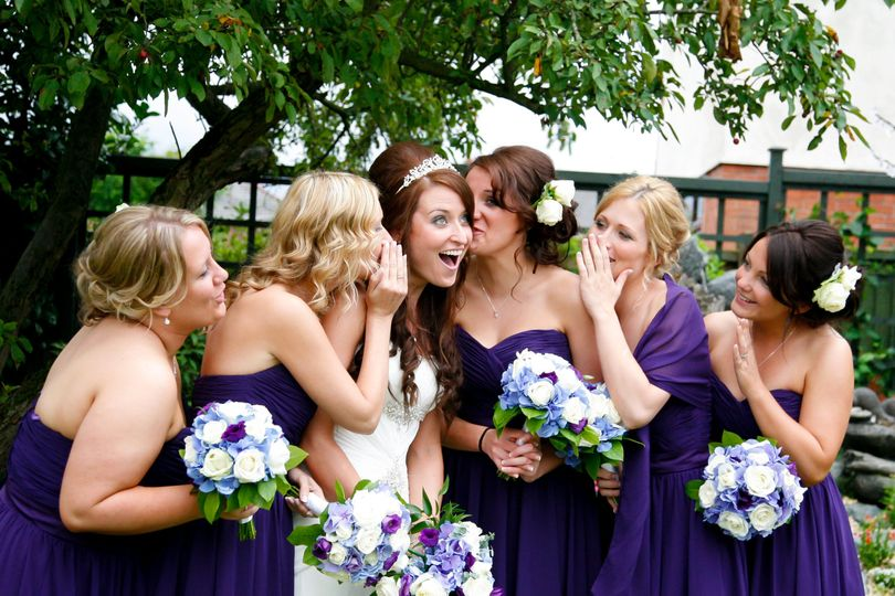 Gossiping bridesmaids