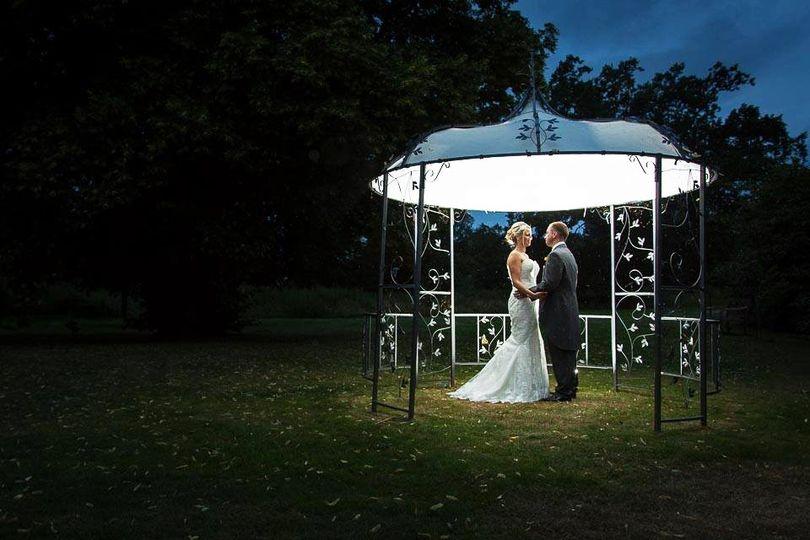 Bride & Groom outside