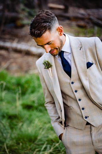 Light grey three-piece suit