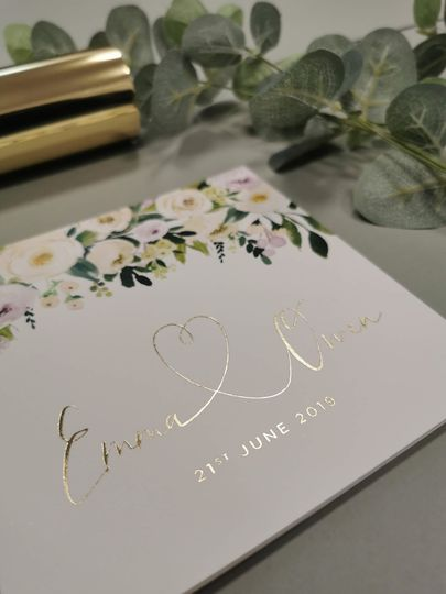 Summer Florals with Gold Foil