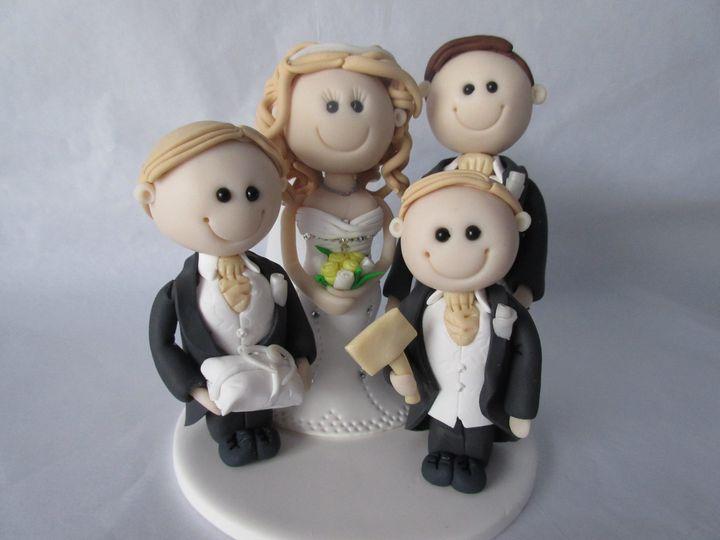 Wedding cake topper family
