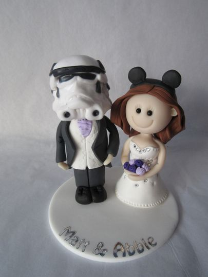 Bride & Stormtrooper topper