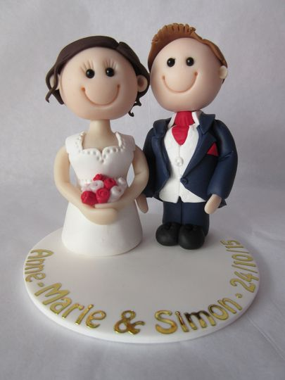 Personal wedding cake topper